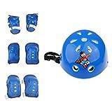 MagiDeal Kinder Schutzset (Knie Ellenbogen Handgelenk Schützer und Sporthelm - 7er Set) Kinder Protektoren Set für Fahrrad Rollschuhe Skateboard Rollerskates Inliner Sport - Blau