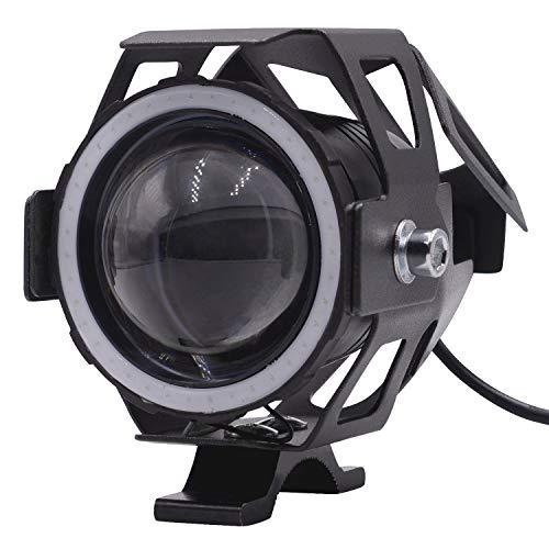 No brand Moto Faro LED di Guida Running Light Nebbia della Lampada con Angel Eyes Luci Anello Ant, fari a LED for Moto Accessori Moto Accessori per motociclette (Color : Blue, Edition : 2pcs)