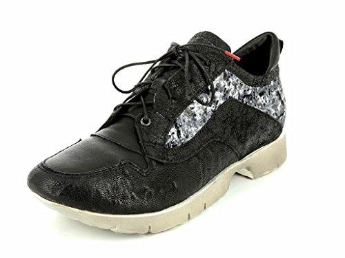Pensez! 87080-09, Chaussures À Lacets Femme Noir Noir Noir