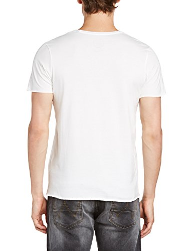 JACK & JONES Herren T-Shirt WAY TEE SS CREW NECK ORIG TTT Weiß (Cloud Dancer Detail: COMBO 2. SLIM FIT 11-4201 TCX 2)