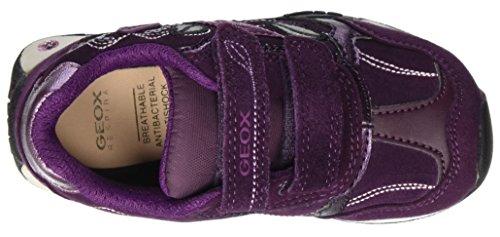 Geox Jr New Jocker Girl C, Scarpe da Ginnastica Basse Bambina Violett (Prunec8017)