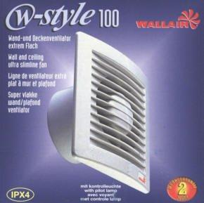 Wallair W-Style 100 Wand- und Deckenlüfter 230 V 95 m³/h 10 cm -
