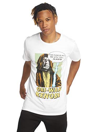 MERCHCODE Herren Obi-Wan Kenobi Tee T-Shirt, White, M
