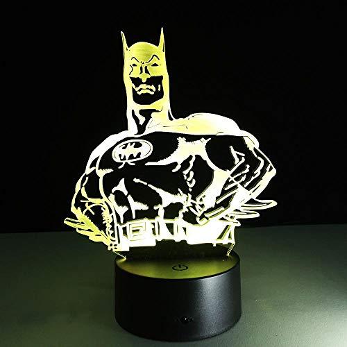 CYJQT 3D Nachtlicht Für Kinder Batman Lampe Mode Moderne Kunst Senior Hause Schlafzimmer Wohnzimmer Dekoration Tisch Tischlampe Tropfboot