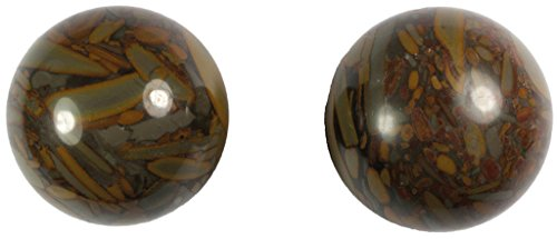 Meditation Qi-Gong-Kugeln | Yin Yang | Design Stein braun | verschiedene Durchmesser (Ø 50 mm)