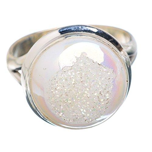 5 Sterling Silber Ring 9 (Druzy-ring)