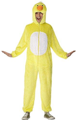 Imagen de smiffy's 31685m  disfraz de pato para adulto, talla 38/40