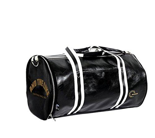 Quanjie Wasserdicht Sporttasche Reise Trainingstasche Große Qualität Fitnesstasche Fitness Tasche für Herren und Damen Reisetasche Weekender Carry-on mit separaten Schuhfach (negro)