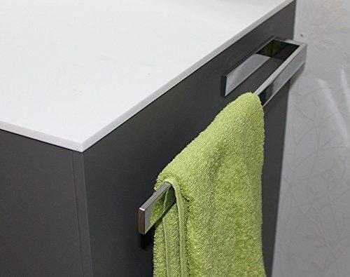 PROKIRA Handtuchhalter in Chrom, Korpusmontage, einarmig 390 mm, Eckige Form, Bad/Küche