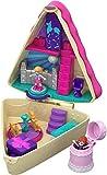 Mattel- Polly Pocket-Cofre Tarta de Cumple, muñeca con Accesorios, Juguete +4 años GFM49