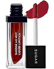 SUGAR Cosmetics Smudge Me Not Liquid Lipstick 10 Drop Dead