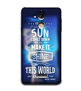 Shine This World 3D Hard Polycarbonate Designer Back Case Cover for Coolpad Note 5