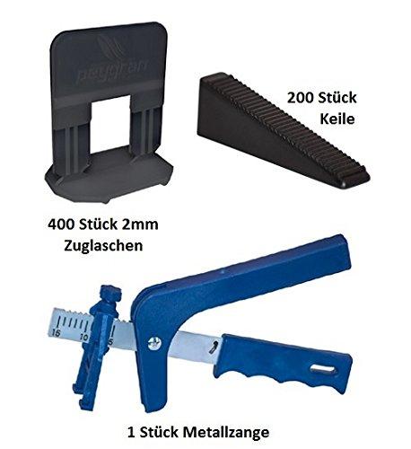 Sistema de nivelación peygran 2mm 400laschen 200cuñas + Metal Alicate