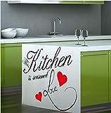 Zlxzlx Küche Ist Gewürzt Liebesbriefe Wandtattoos Für Küche Zimmer Innenwand Kunst Dekor Diy Vinyl Abnehmbare Aufkleber Dekoration