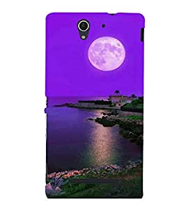 printtech Moonlight Nature Sea Back Case Cover for Sony Xperia C3 Dual D2502::Sony Xperia C3 D2533