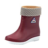 Frestepvie Women Mid Calf Wellies Rain Boots Warm Fleece-Lined Wellington Boots Winter Snow Cold Weather Removable Lining