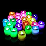 BOXO Multi Colored Decorative LED Candles For Home Decorations, Diwali Decoration Items, Set Of 12