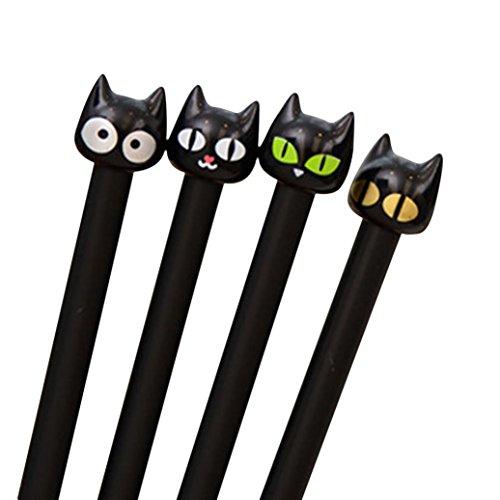 Gbell Gelstifte, niedliche schwarze Katze, 0,5 mm, für Mädchen und Jungen, 4 Stück 15CM/4.2