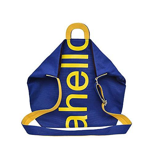 Die Großvolumige Damenhandtasche Aus Segeltuch Kann Auch Als Umhängetasche Oder Umhängetasche In Blau Verwendet Werden -