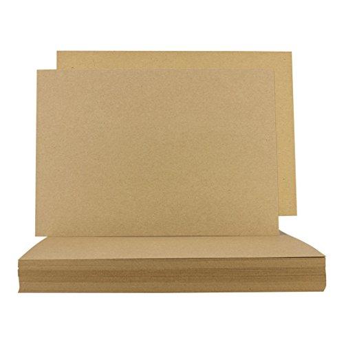 Block geleimt Kraft br A4 100 Blatt 90g Kartonbraun