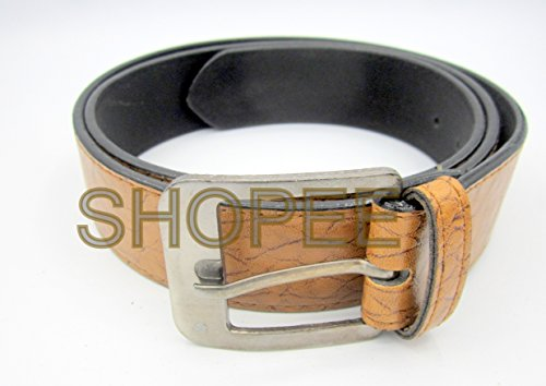 SHOPEE Men's Brown Synthetic Leather belt M05  available at amazon for Rs.99