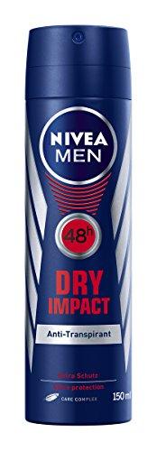 Aluminium-dry Box (NIVEA MEN Dry Impact Spray, 6er Pack (6 x 150 ml))