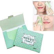 Aolvo 100 Stück ölabsorbierende Taschentücher Beauty Make-up Gesichtspflege Produkt Öl Control Absorbing Löschpapier Blätter für fettige Haut Pflege entfernen überschüssiges Öl und Glanz