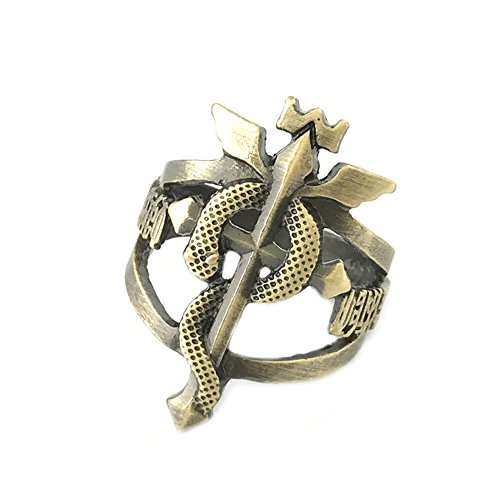 Full Metal Alchemist Anime Kostüm Cosplay Gr. 9 Ring w/Gift Box by superheores