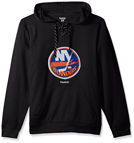 Reebok NHL New York Islanders Adult Men Team Crest Performance Fleece Hockey Hood,Large,Black (New York Islanders Hoodie)