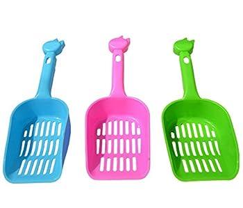 3x Milopon Pelle à Litière en Plastique Pour Chien Chat Maison Toilette Couleur Aléatoire