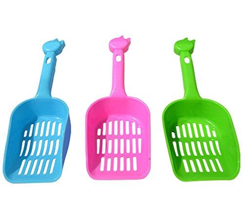 3x Demarkt Limpieza de Mascotas Pala de Plástico Cuchara Pala de Basura Herramienta para Limpiar Mascotas para Mascota Gatos Perros