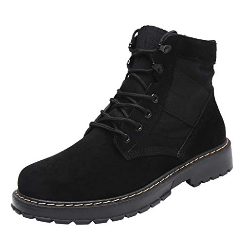 MakefortuneHerren Desert Boots Schwarz Braun Beige Wildleder & Lauffläche Grip Sohle Kurze Stiefel Ankle Boots Booties -