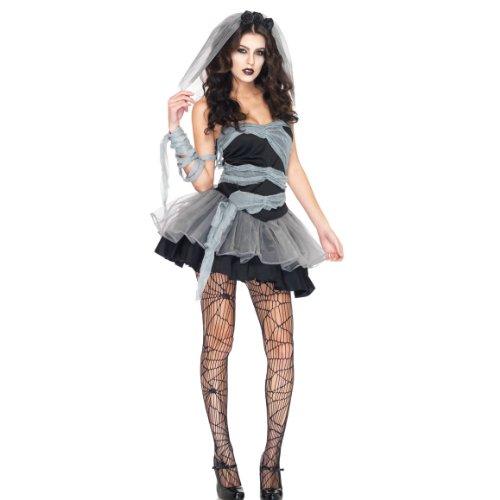 ZOMBIE Corpse Bride Damen (Zerfetzte Kleid Kostüm)