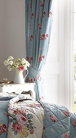 Carly Multi Couleurs Grand Bouquet Floral–Mélange de coton réversible housse de couette/Parure de lit avec taies d'oreiller assorties, Polycoton, multicolore, Curtains (66