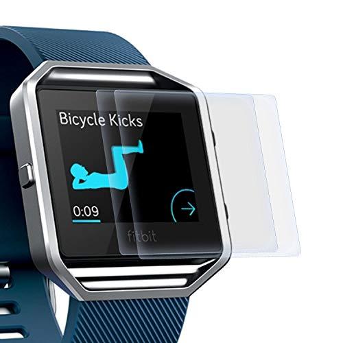 zanasta 2 Stück Schutzfolie kompatibel mit Fitbit Blaze Bildschirmschutzfolie Nano Schutz Folie | Volle Abdeckung, Klar Transparent