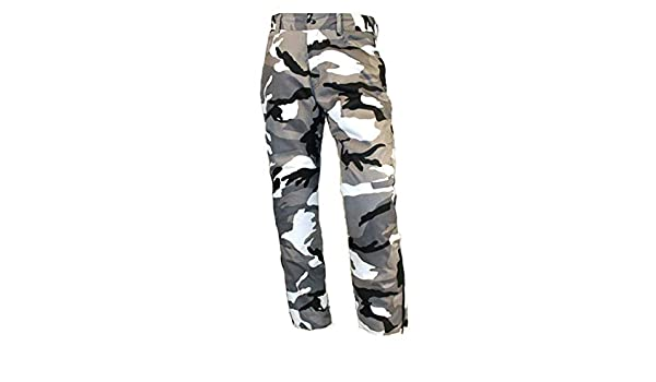 Skintan Mens Camo Armoured Motorcycle Showerproof 5 Pocket Trousers