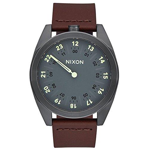 Nixon ltext-Orologio da polso al quarzo in pelle A9261388