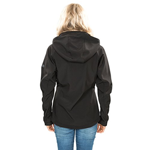 Trespass Women's Bela II Waterproof Softshell Jacket with Removable Hood - view from back