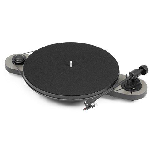 Pro-Ject Elemental Belt-Drive Audio Turntable Black,Grey - Platines (Belt-Drive Audio Turntable, Manual, Black,Grey, Metal,Plastic, 33,45 RPM, Cassette)