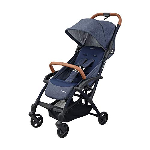 Maxi Cosi Laika 2 Baby Pushchair, Ultra Compact and Lightweight Stroller from Birth, Easy Fold, 0 Months-3.5 Years, 0-15 kg, Sparkling Blue  Dorel UK Limited