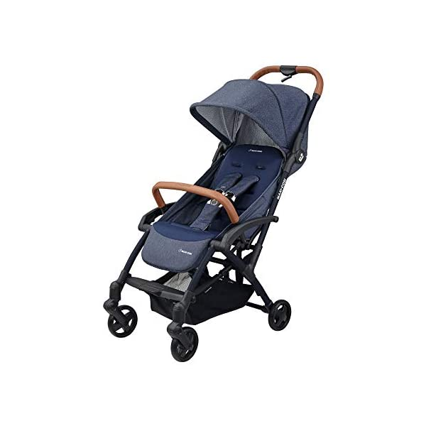 Maxi Cosi Laika 2 Baby Pushchair, Ultra Compact and Lightweight Stroller from Birth, Easy Fold, 0 Months-3.5 Years, 0-15 kg, Sparkling Blue Maxi-Cosi Urban stroller, suitable from birth to 15 kg (birth to 3.5 years) Remove the seat and transform into a pram by attaching our Laika Soft Carrycot or add any Maxi-Cosi baby car seat for a full from-birth mobility solution (sold separately) One-hand fold to easily fold stroller using only one hand 1