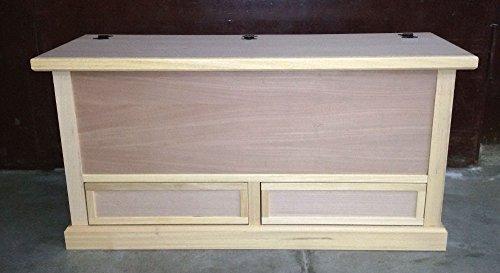 Legno&Design Table Basse 2 tiroirs de Rangement Bois Brut Art Pauvre
