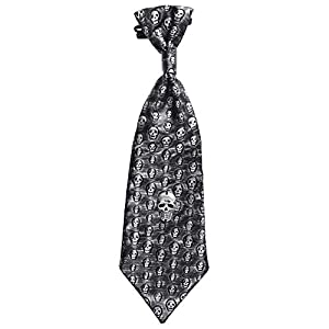 WIDMANN - Corbata calaveras metalizada