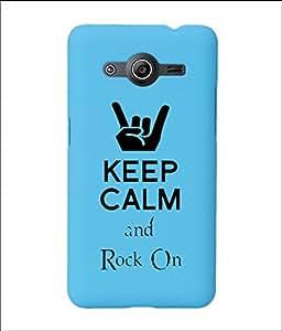 KolorEdge Back Cover For Samsung Galaxy Core II - Sky Blue (2032-Ke15080SamCore2SBlue3D)