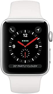Apple Watch Series 3 GPS + Cellular, 38mm Silver Aluminium Case with White Sport Band