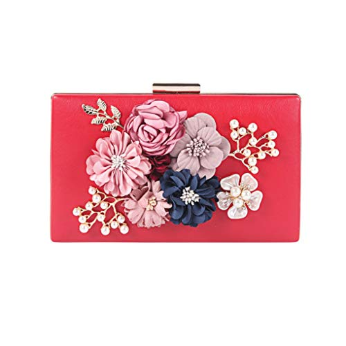 Damen Velvet Clutch Blumen Perlen Abendtaschen Frauen Velour-Partei-Hochzeit Handbag Braut Luxus Mini Tagesgeld Pandiki