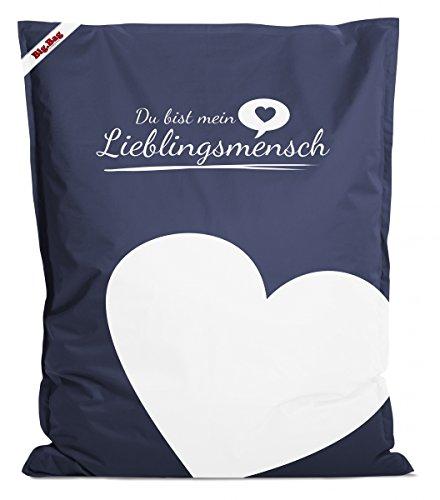 Sitzsack Brava Big Bag Lieblingsmensch 130x170cm