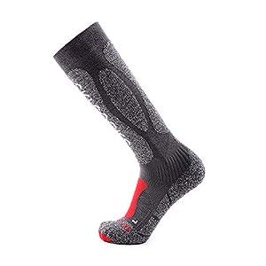 WWSUNNY Winter Ski Socks, Ski- und Snowboard Socken Unisex Skisocken Skistrumpf Herren Snowboard atmungsaktive Socken Knie-Strümpfe Thermosocken Funktionssocken(39-43)