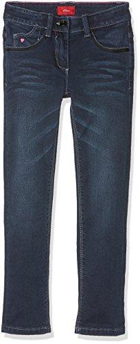 s.Oliver Mädchen Jeans 53.710.71.3008, Blau (Dark Blue Aop 58Z7), 128 (Herstellergröße: 128/REG)