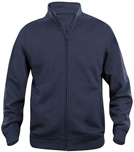 Taglie forti uomo cardigan felpa aperta misto cotone oversize big size (6xl, blu)
